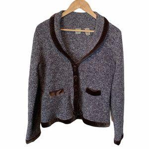 HWR Monogram Anthropologie cardigan sweater Large
